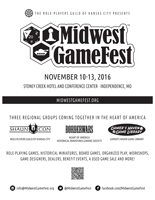 Midwest GameFest Flyer BW Full Page