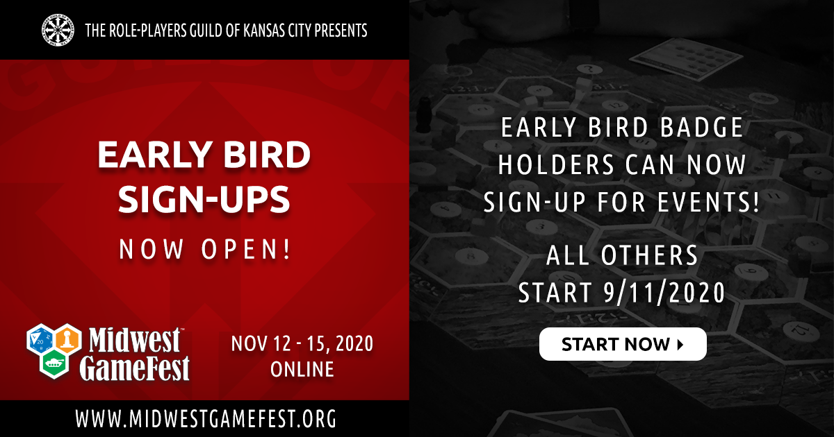 Early-bird Event Sign-ups Now Open