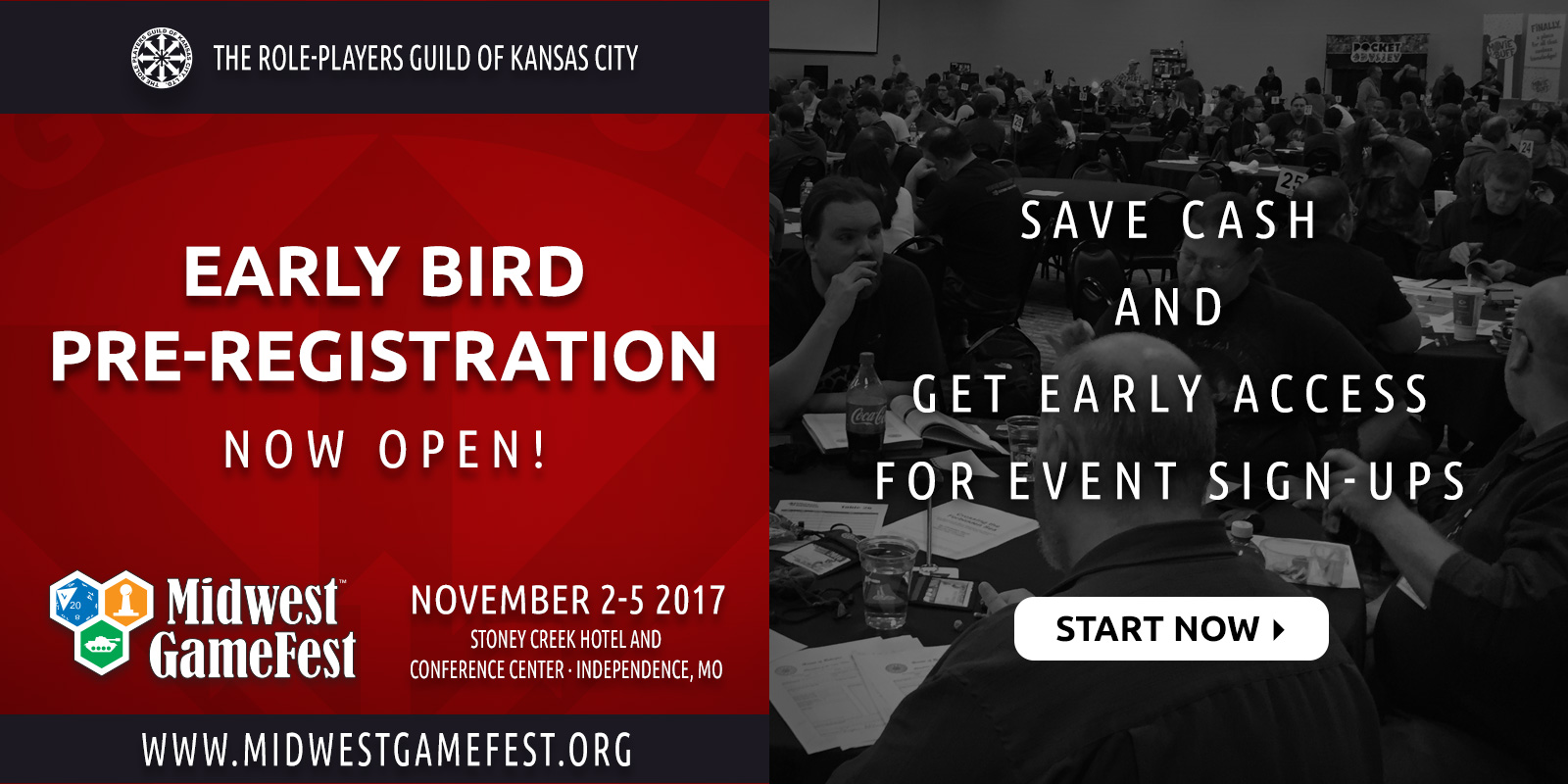Early Bird Pre-reg Opens