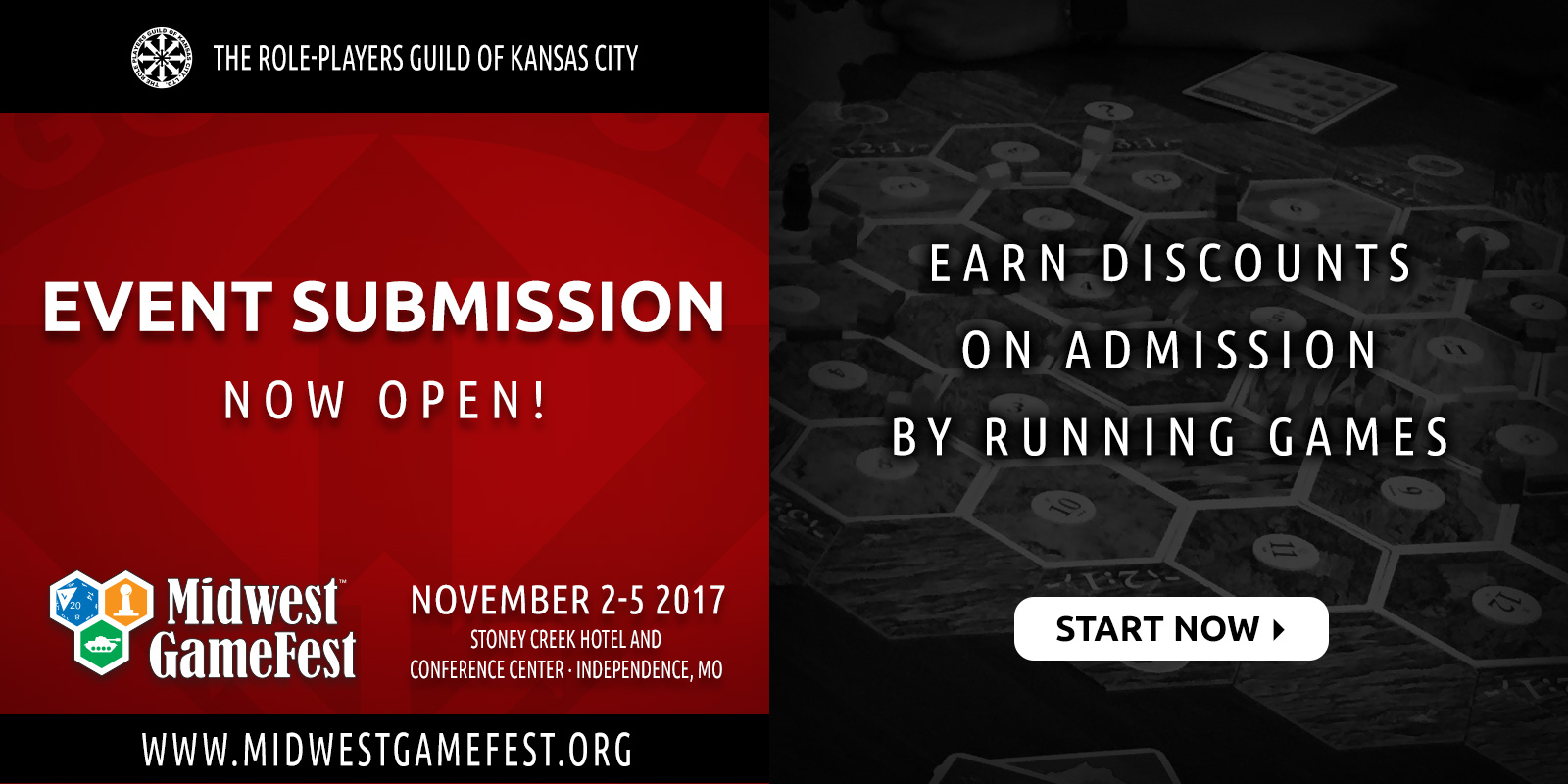 Event Submission Opens